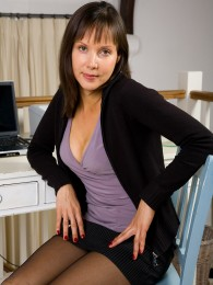 AllOver30 – Sexy Secretary MILF Cindy Strips For You