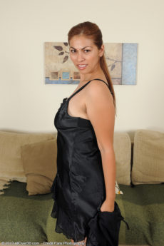 Exotic and elegant 34 year old Alina slips out of her evening gown