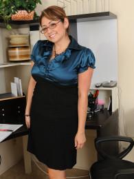 Glasses latina mature jessica zara