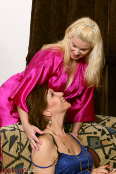 Lynn and April Key having mature lesbian sex