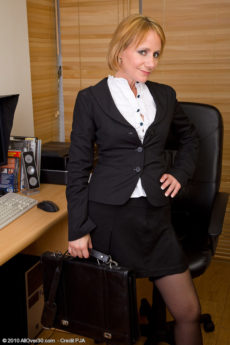 At 46 years old Tiffany T still looks amazing masturbating at the office