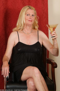 Elegant 55 year old Josie enjoys a bit of wine and then herself in here